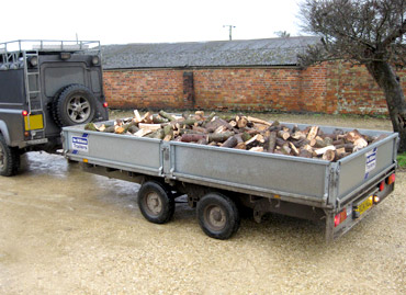 Fire wood logs ready for delivery